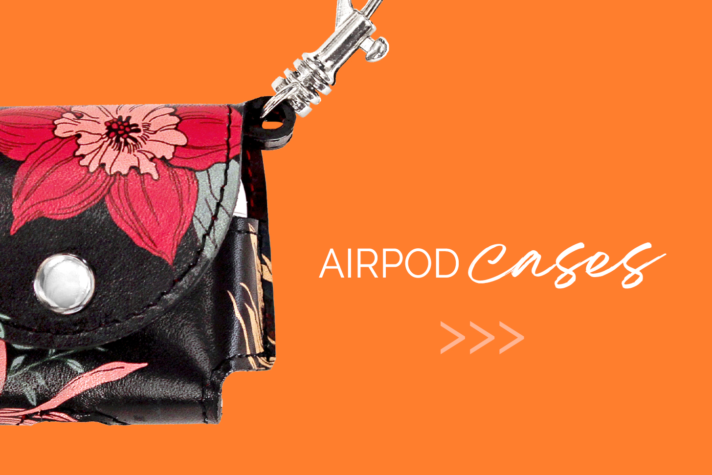Airpod Case with Orange background