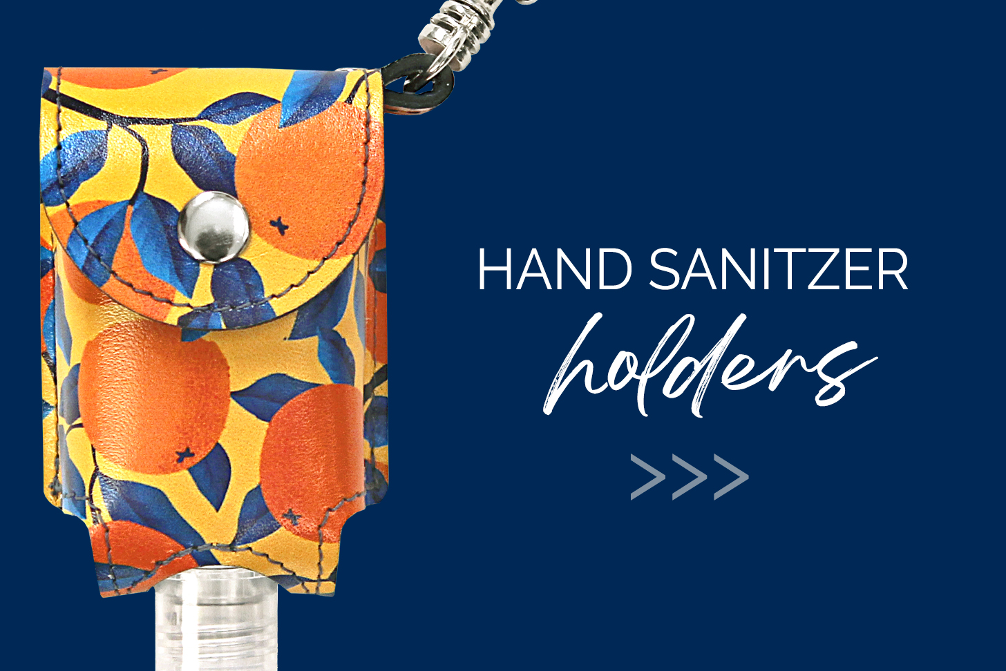 Hand Sanitizer with Blue Background