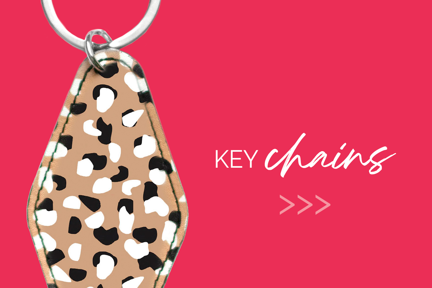 Keychains with Pink Background